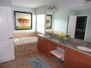 Alexander Palm Model Master Bathroom Tub at Storey Lake