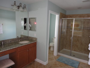 Alexander Palm Model Master Bathroom Shower at Storey Lake