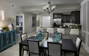 Augusta Model Dining Room and Kitchen at ChampionsGate
