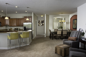 Hideaway Model Kitchen and Family Room at ChampionsGate