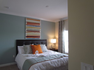 Sabal Palm Model bedroom at Storey Lake