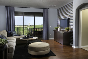 Turnberry Model Living Room and Covered Porch at ChampionsGate