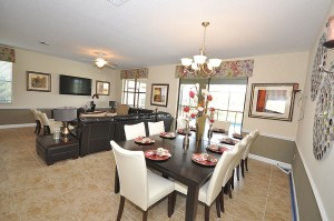 Maui Model Living and Dining Room at ChampionsGate