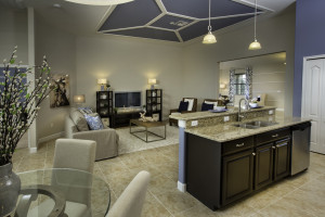 Sand Dollar Model Kitchen Family Room at ChampionsGate