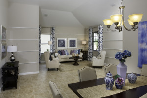Sand Dollar Model Living Room Dining Room at ChampionsGate
