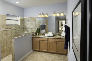 Sand Dollar Model Master Bathroom at ChampionsGate